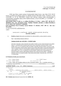 usnesen í - Exekutorský úřad Svitavy