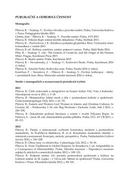 publikační a odborná činnost - Ústav etnologie