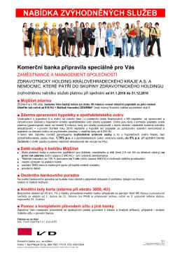 Program Partneři Nabídka - Zdravotnický holding