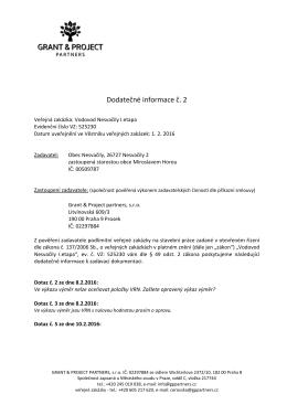 Dodatečné informace č. 2