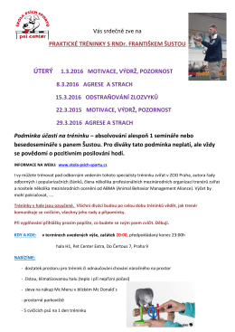 propozice tréninky březen pdf