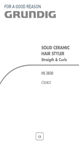 solid ceramic hair styler