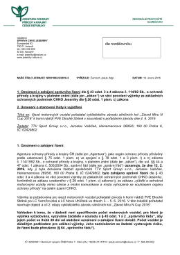 Zahájení správního řízení SR/0108/JS/2016 výjimka