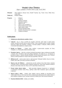 Zápis z jednání finančního výboru dne 18