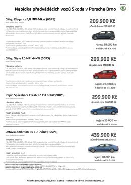 nabídka předváděcích vozů
