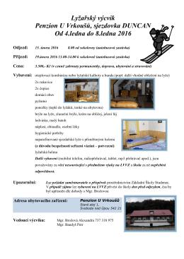 Lyžařský výcvik - Základní škola Studenec
