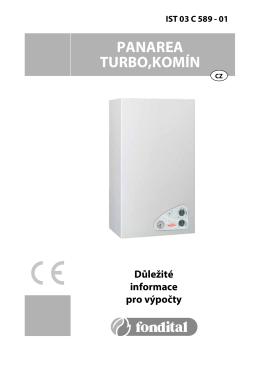 Tecnické parametry Panarea (komín, turbo)