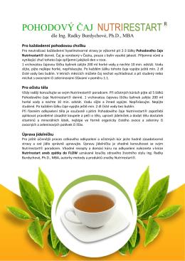 pohodový čaj - Nutrirestart