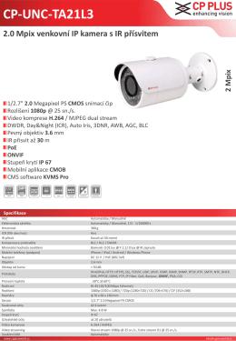 CP-UNC-TA21L3 2.0 Mpix venkovní IP kamera s IR přísvitem