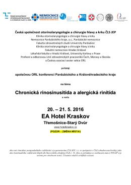 ORL konference Pardubického a Královéhradeckého kraje 2016