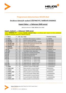 Import faktur (WIN verze)