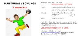 jarní turnaj v bowlingu