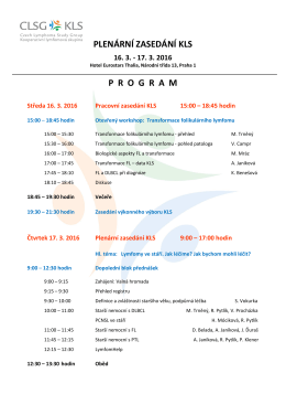 Program KLS 16.