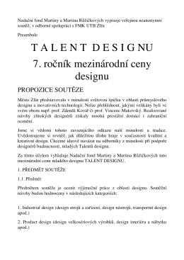 Kompletní pravidla - Zlin Design Week