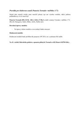 Pravidla pro klubovou soutěž Panavia Tornado v - KPM