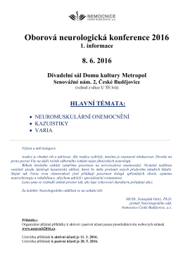 Oborová neurologická konference 2016
