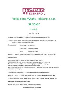 VC Výtahy 2016 - Veřejná střelnice Havlíčkův Brod