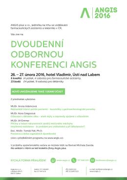 Zobrazit pozvánku a přihlášku na konferenci