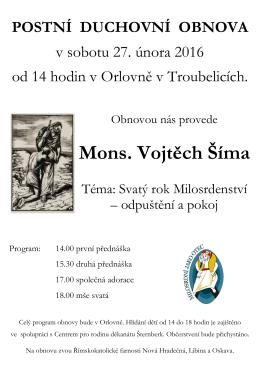 Mons. Vojtěch Šíma - Farnost Nová Hradečná