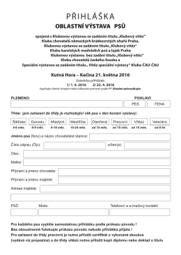 přihláška - OMS Kutná Hora