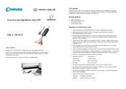 Konvertor pro digitalizaci videa GR1 Obj. č.: 130 42 31