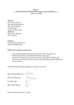 PhDr. llona Němcová - /r,`Dt arrt - Základní škola Jungmannovy sady