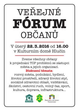 V úterý 22. 3. 2016 od 16.00 v Kulturním domě Hlučín