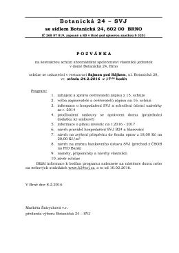 Pozvánka ve formátu pdf - Botanická 24 – společenství vlastníků
