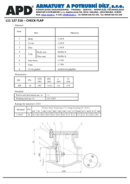 l11 127 216 – check flap - Armatury a potrubní díly, sro
