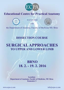 Přístupy 2016ic1.11. - Edukační centrum praktické anatomie