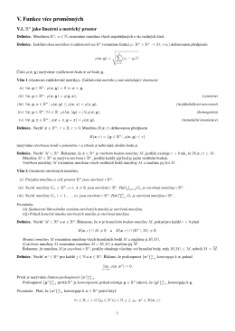 Kapitola V - Funkce více proměnných