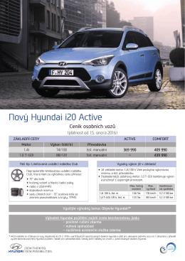 Ceník - Hyundai