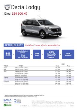 Dacia Lodgy - Dacia Česká republika