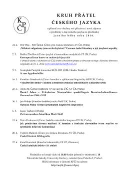 kruh přátel českého jazyka - Ústav českého jazyka a teorie