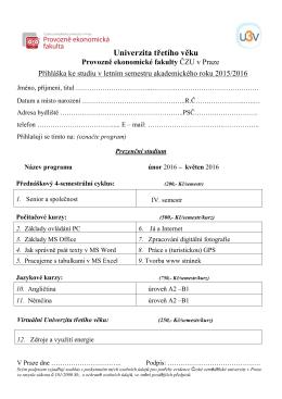 Přihláška LS 2015-2016
