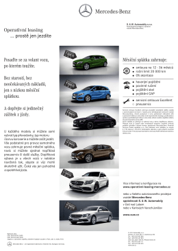 Operativní leasing Mercedes-Benz
