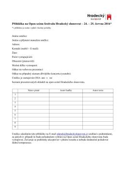 Open scéna – přihláška – Hradecký slunovrat 2016, formát pdf