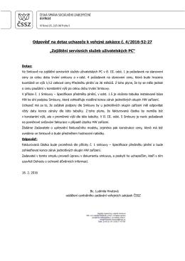 Odpověď na dotaz 2 - Česká správa sociálního zabezpečení