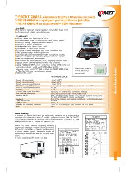 Katalogový list - Comet System, s.r.o.
