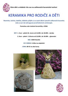 keramika pro rodiče a děti - dům dětí a mládeže slavičín
