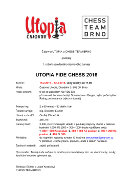 UTOPIA FIDE CHESS 2016
