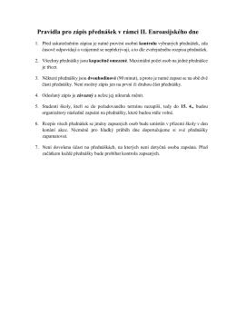 Pravidla pro zápis