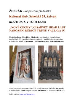 Kulturní klub, Sokolská 55, Žebrák neděle 28.2. v 16:00 hodin