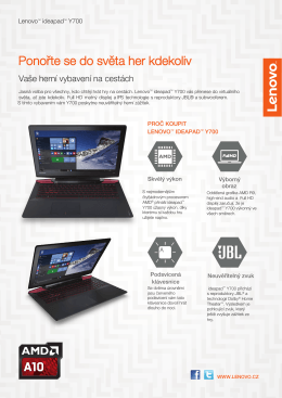 Lenovo_ideapad Y700 15inch AMD_DS