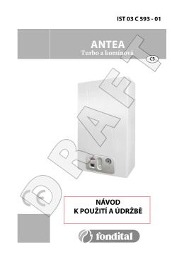 Technické parametry Antea (komín, turbo)