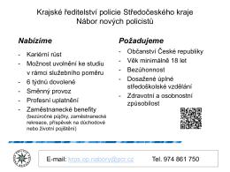 11. 02. 2016 - Krajské ředitelství policie Středočeského kraje: Nábor