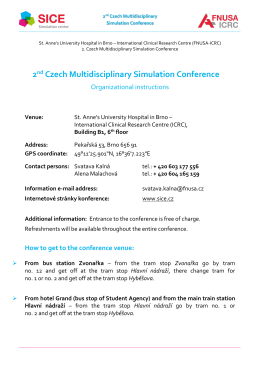2nd Czech Multidisciplinary Simulation Conference