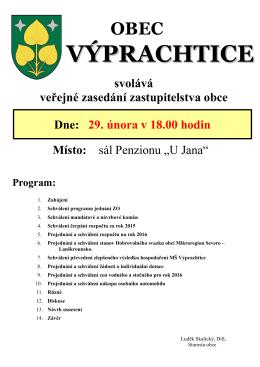 plakát 29.2.2016 - Obec Výprachtice