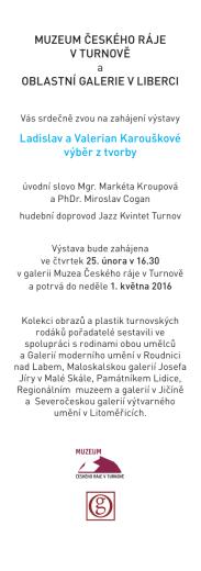pozvánka karouškové - Muzeum Českého ráje v Turnově