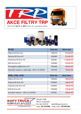 akce filtry trp - KOPY TRUCK sro